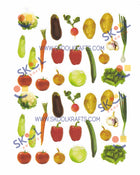 Vegetable Die-Cut Stickers 10/pk