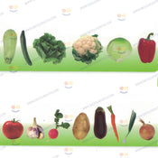 Jumbo Vegetable Cutouts Aprox 9