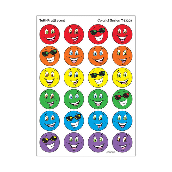Colorful Smile Stickers 4/sheets