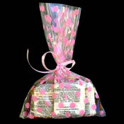 "6X9"" printed cello bag-100/pk, DOT-PINK"