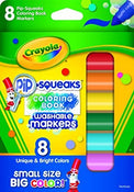 Crayola Pip Squeak Washable Coloring Book Markers 8/pk