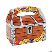 "Treasure Chest Treat Boxes 6 1/8"" x 3 5/8"" x 6"" 121/pk"