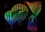 Balloon Ride Rainbow Mini Engraving Art