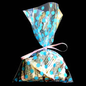 "6X9"" printed cello bag-100/pk, DOT-BLUE"