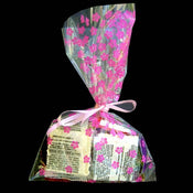 "6X9"" printed cello bag-100/pk, BLOSSOM-PINK"
