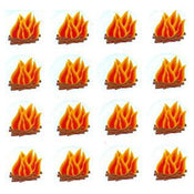 "Bonfire Stickers 1.25"" 10/sheets"