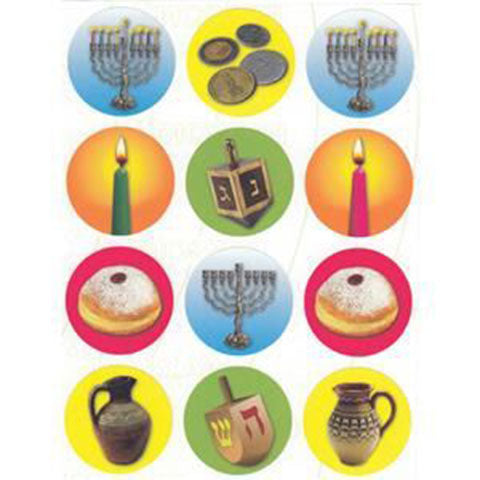 "Chanukah Stickers 1.2"" 10 Sheets"