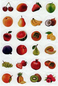 "Stickers Fresh fruits 1"" 10/sheets"