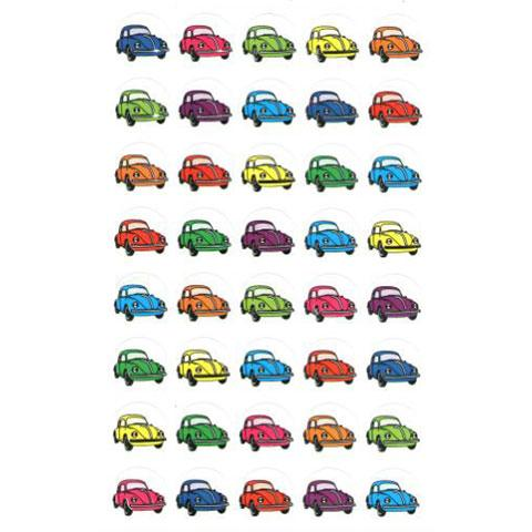 Stickers Cars colorful 25/sheets