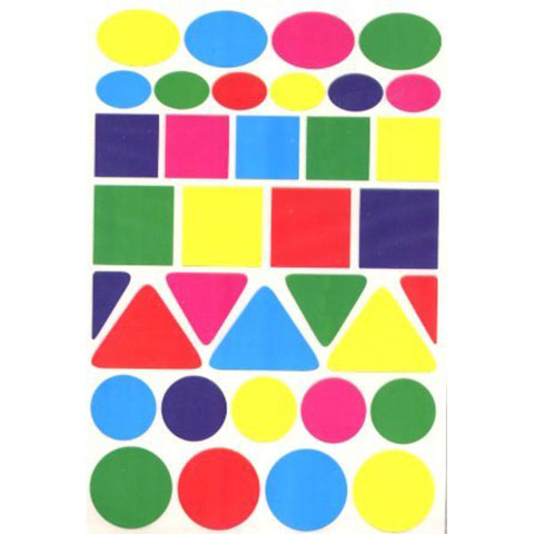 Geometric Shape Stickers Large 25/Sheets