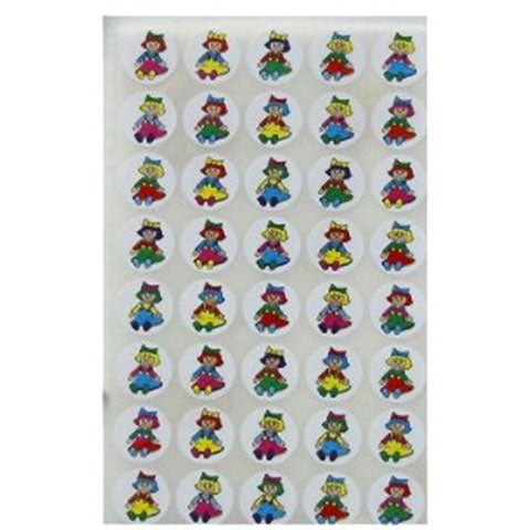 "Stickers Dolls 3/4"" 25/Sheets"