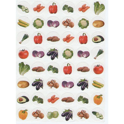 Stickers Vegetables 10 Sheets