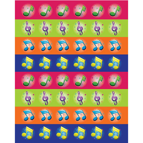 Stickers Musical Symbols 6/Pk