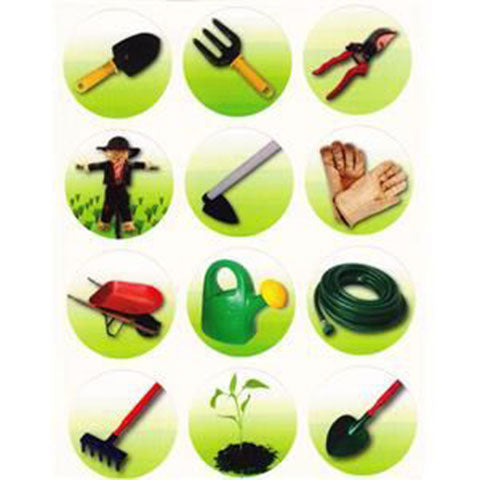 "Stickers Gardening Tool 1.2"" 10/sheets"