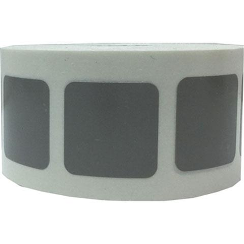 "Stickers Grey Square 1/2"" 500/pk"