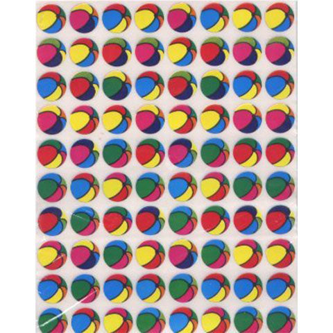 Stickers Colored Balls 1/2""