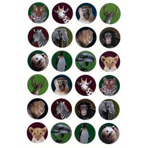 "Stickers Wild Animal Assortment 1"" 10/Pk"