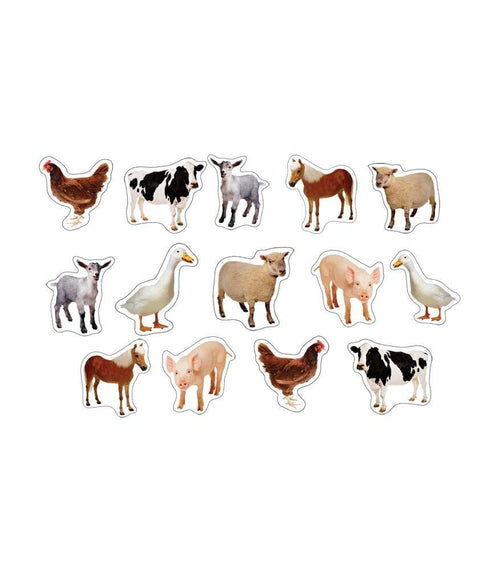 Farm Animals Shape Stickers 6/Sheets