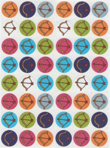 Bow And Arrow Stickers 3/4""