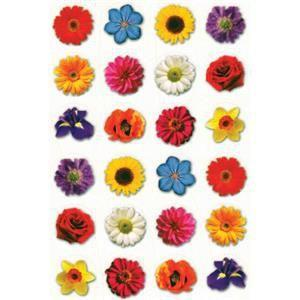 Colorful Flower Stickers 3/4""