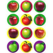"Apple Stickers 1.4"" 10 Sheets"