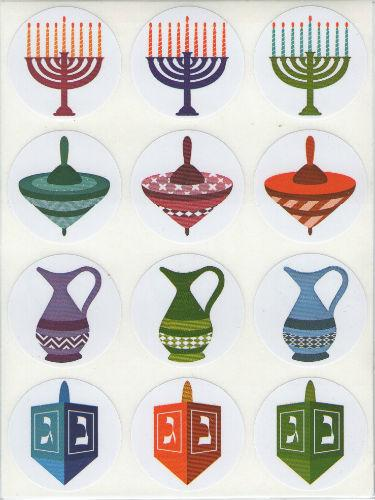 "Chanukah Stickers 1 1/2"" 10 Sheets"