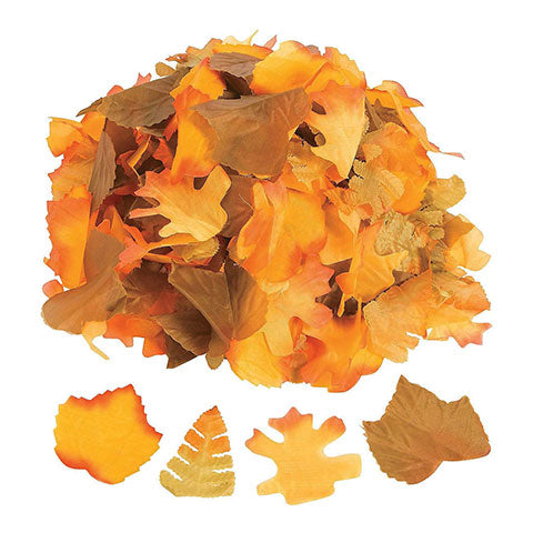 Polyester Decorative Fall Leaves 250/pk