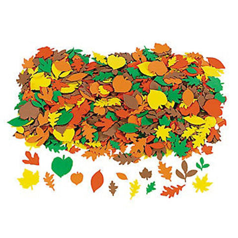 Fabulous Foam Fall Adhesive Leaf Shapes 500/pk