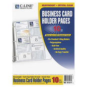 "Business Card Holders, 11-1/4"" x 8"" 20/pg 10/pk"