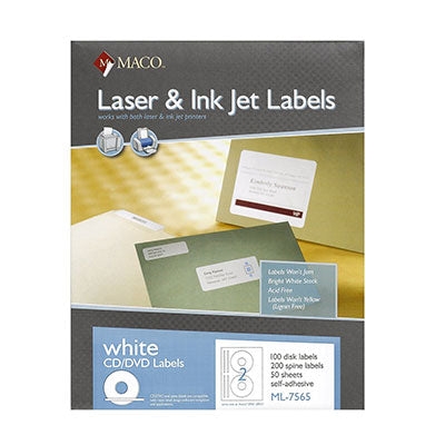 CD Labels 100 Sheets 2/pg