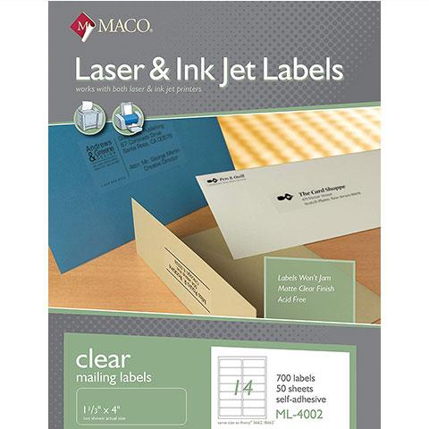 Clear Laser Labels