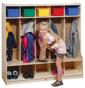 5-Section Locker with Seat/Step