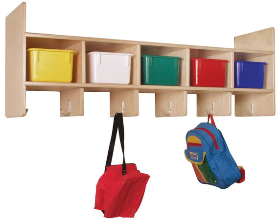 5-Section Wall Locker with Multi-Colored Trays
