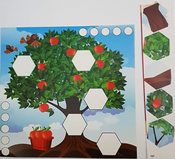 Tree Coloring Crafts Card Stock Paper 20 Sets