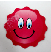 Red Smiley Cardstock Cutout 40/pcs.