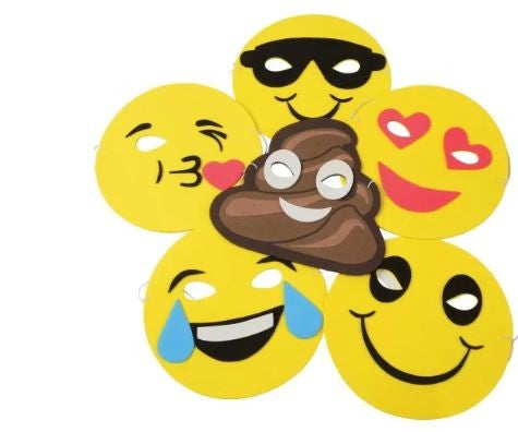 Emoticon Foam Masks 12/pcs.