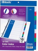 Subject Dividers (No/Pockets, 10 Subject Divider)