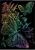 Butterflies Rainbow Mini Engraving Art