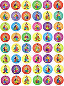 "Clown Stickers 3/4"" 10/pk"