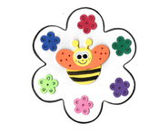 "Bee Flower Craft Kit 7"" 20 sets"