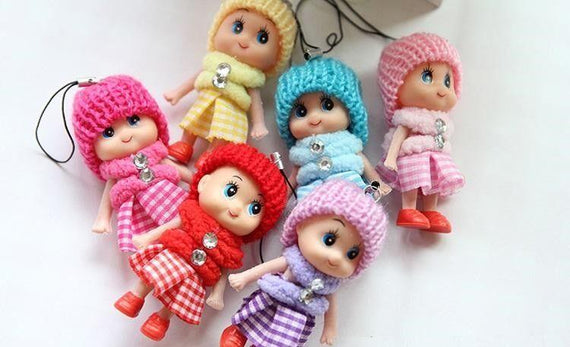 Colorful Doll Keychain 1/2""