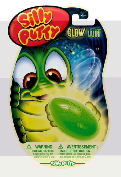 Silly Putty Glow In The Dark Assrt 1/pk