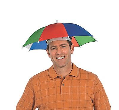 Nylon Umbrella Hat