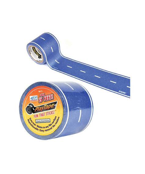 Blue Classic Toy Car Play Road Tape 15'