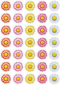 "Flower Stickers 3/4"" 10/Sheets"