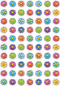 "Flower Sticker 1/2"" 10 Sheets"