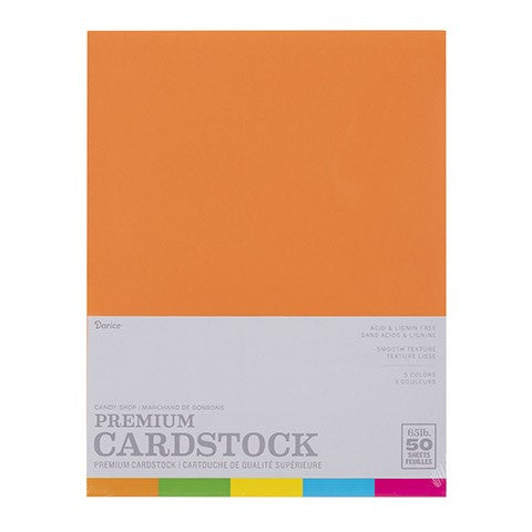 8.5 X 11 Cardstock Sheet: Candy Shop, 50/sht. Assorted