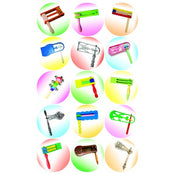 "Gragger Stickers 1"" (120 Stickers In A Pack)"
