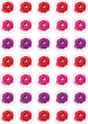 "Rose Stickers 3/4"" 10 Sheets"