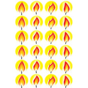 "Flame Sticker 1"" 10 Sheets"